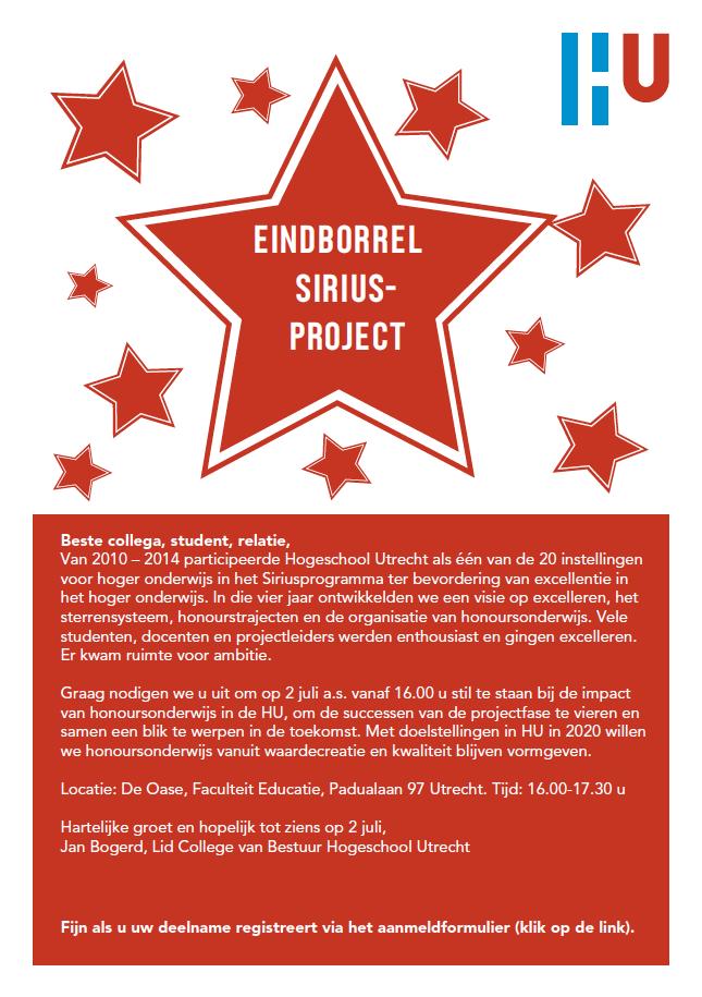uitnodiging Sirius